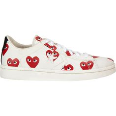 super popular 4dbc1 3865e See More. Comme des Garçons PLAY Heart-Print Pro Sneakers ( 140) ❤ liked on  Polyvore