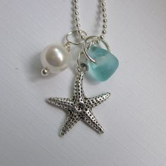 seaglass and starfish -- love this!