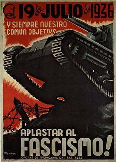 Resultado de imagen de poster fascist civil spanish war