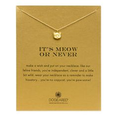 it's meow or never kitty necklace, gold dipped