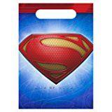 Superman Man of Steel Favor Bags (8ct) by Hallmark