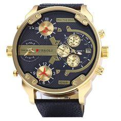 JUBAOLI 1068 Date Function Male Four Movt Quartz Watch #women, #men, #hats, #watches, #belts, #fashion, #style