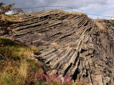 Basalt columns being the remains of an extinct Tertiary volcano in the Saxonian Ore Mountains, Germany (Photo: Janka)