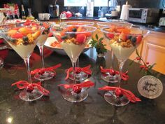 Yogurt Parfaits, Santa Baby Christmas Brunch Party