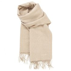 Pre-owned HERMES Beige Cashmere Scarf