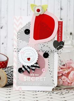 It's No Secret Card and Spy Glasses by Melissa Phillips for Papertrey Ink (January 2015)