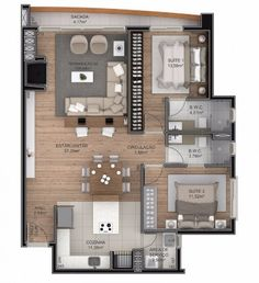 House Floor Design, Modern House Floor Plans, Sims House Design, Small House Design, Small House Plans, Home Building Design, Home Room Design, Home Design Plans, Small Apartment Plans