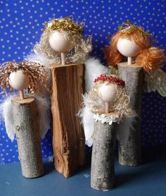Meine Weihnachtsengel - made by SoMarie Danish Christmas, Christmas Crafts, Merry Christmas, Christmas Decorations, Xmas, Macrame Projects, Wood Projects, Projects To Try, Handmade Crafts