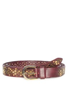 240 kr (650) Vanzetti Leather Belt, bordeaux