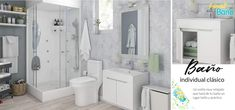Baño individual clásico. Un estilo clásico que hará ver tu baño un lugar relajado y práctico. Alcove, Bathtub, Bathroom, Classic Style, Places, Home, Standing Bath, Washroom, Bath Tub