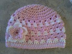 Crochet Granny Stripe baby hat