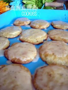 Banana Cookies. Yummy. Plus a different option from banana bread.