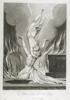 The Reunion of the Soul and the Body, pl.13, illustration from 'The Grave, A, Poem' by William Blake (1757-1827), engraved by Luigi Schiavonetti (1765-1810), 1808 (etching) Postcards, Greetings Cards, Art Prints, Canvas, Framed Pictures, T-shirts & Wall Art by William Blake