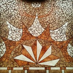mosaic floor tile. Not sure if these are wood tiles but they look like it :)
