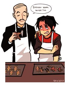 Alfred and Tim Drake(Tim was the second robin our 4)