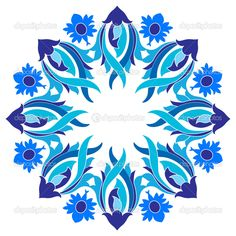 Osmanlı motifleri serisi 9 sürümü ile tasarım - Stok İllüstrasyon: 45358335