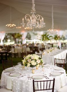 Photography : Marni Rothschild   Event Planning : Ellen Robinson/WED   Florist : Sara York Grimshaw Designs   Reception Venue : Cherokee Plantation Read More on SMP: http://www.stylemepretty.com/south-carolina-weddings/2014/04/04/a-tented-southern-classic/