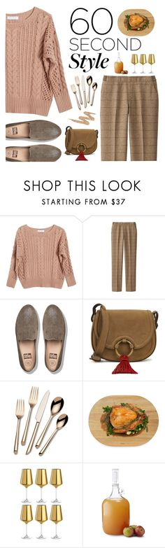 """60 second style: family dinner"" by nadiahirbah288 ❤ liked on Polyvore featuring Ryan Roche, Uniqlo, FitFlop, Tory Burch, Towle, Architec, Leonardo, Brooklyn Brew Shop, Urban Decay and Fall"