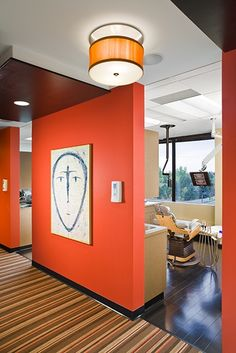 Hall ceiling and lighting  Link Dental - Dental Office Design by JoeArchitect in Englewood, #Office Design #Working Design #Working Decor