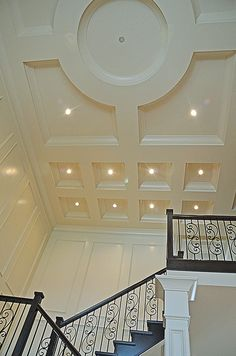 Favorite coffered ceiling - could do this circle above kitchen table/dinette