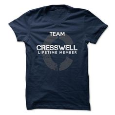cool CRESSWELL Name Tshirt - TEAM CRESSWELL, LIFETIME MEMBER