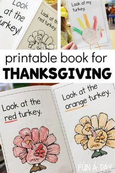 A free printable book about Thanksgiving and turkeys! This emergent reader is perfect for preschool or kindergarten this November. A fun way to build early literacy skills by using the excitement of the holiday season! Free Thanksgiving Printables, Thanksgiving Activities For Kids, Thanksgiving Crafts, Early Learning Activities, Rhyming Activities, Book Activities, Free Preschool, Preschool Printables, Literacy Skills