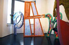 Archivio Paninaro, installazione di Ludovica Gioscia con tessuti Naj Oleari Wishbone Chair, Furniture, Home Decor, Style, Swag, Decoration Home, Room Decor, Home Furnishings, Home Interior Design