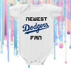 LA Dodgers Fan Neutral Bodysuit by Edgy Baby by EdgyBaby on Etsy