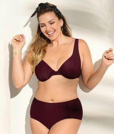 Bikini uni à armatures culotte ventre plat femme Exclusivité 3SUISSES -  Lilas 8a4777c60a05