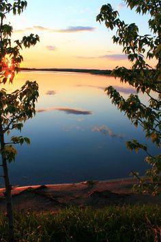 Haunted Lake Sunset Colours