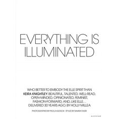 Everythings Is Illuminated ❤ liked on Polyvore featuring text, words, phrase, quotes and saying
