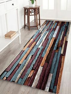 Colorful Brick Wall Pattern Water Absorption Area Rug