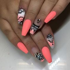 Pics of Summer nails ideas. style summer Related PostsCreative christmas nail designs 201610 New Summer Nail Polish Trending Summer Nail Polish ColorsLatest Nail Polish Colors for SummerThe 10 Trendiest Summer Na. NOT THE SHAPE! Summer Nail Polish, Nail Polish Colors, Gel Polish, Cute Nails, Pretty Nails, Hair And Nails, My Nails, Neon Nail Designs, Nails Design