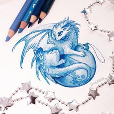New Year dragon by AlviaAlcedo on DeviantArt Fantasy Drawings, Cool Art Drawings, Fantasy Art, Drawing Ideas, Cute Dragon Drawing, Dragon Sketch, Dragon Drawings, Tiny Dragon, White Dragon