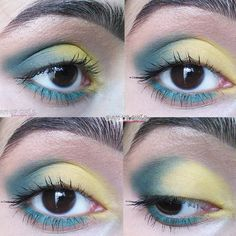 Created this look with the Sleek MakeUP i-Divine eyeshadow palette in Del Mar Voloume II which is inspired with Ibiza.