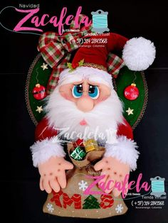 Zacafela – Moldes y Tuttoriales Proyectos Navideños Christmas Crafts, Christmas Decorations, Christmas Ornaments, Holiday Decor, Elf On The Shelf, Santa, Fajardo, Popular, Christmas Wreaths
