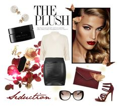 """""""Red Beauty"""" by laurenleigh-bee ❤ liked on Polyvore featuring Charlotte Tilbury, River Island, Miss Selfridge, Jaeger, Rebecca Minkoff, arbÅ« and Gucci"""