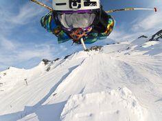 Superman  by GoPro  GoPro Media team member Caleb Farro rocks his alter ego on the slopes!