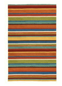 Bright Striped Outdoor Rug.