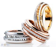 Aus der Eternita Kollektion von Capolavoro - Ringe in 750/- Gelb-, Weiß- oder Rotgold mit Brillanten.