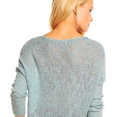 Damen  Häkelpullover Strick  oversize Pullover  light blue Neu Gr.38