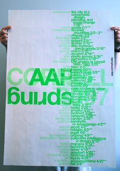 Soulellis StudioPosters for the College of Architecture, Art and Planning (AAP) at Cornell University