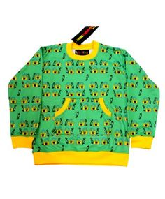 Green Poly Fleece Sweatshirt With Patch Pocket   #ohnineone #kids