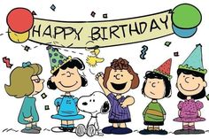 Happy Birthday Snoopy Images, Happy Birthday Greetings Friends, Cute Birthday Wishes, Snoopy Birthday, Happy Birthday Celebration, Happy Birthday Beautiful, Birthday Card Sayings, Happy Birthday Girls, Happy Birthday Pictures