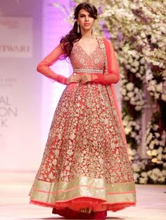 Model walking on the ramp at the Amby Valley India Bridal Fashion Week 2013 Day 1 with top designers showcasing the best trends and new bridal designs. #Fashion #Style #Beauty