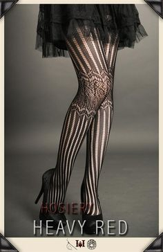 SINFUL STRIPES GOTHIC LACE STOCKINGS