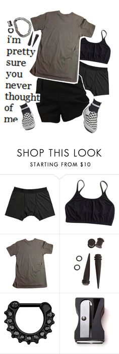 """""""You Never Thought Of Me"""" by waving-through-a-window ❤ liked on Polyvore featuring Terramar, American Apparel, Hot Topic and Monkey Business"""
