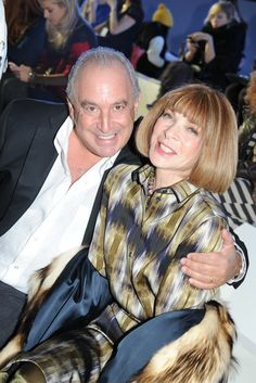 Front Row at Topshop Unique Fall 2012- Sir Philip Green and Anna Wintour