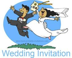 cartoon funny wedding invitations