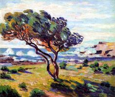 Paintings by Armand Guillaumin | Rafales de vent, Le Brusc